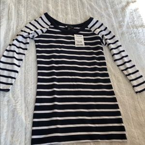 Dark Navy & White Striped Top- NWT- Size XS
